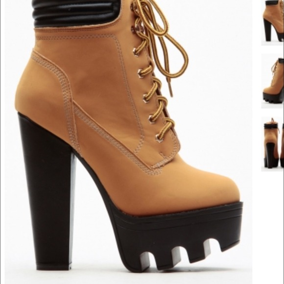 timberland like boots with heels