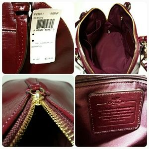 cd9cbe54ea Coach Bags - New Coach domed patent textured leather satchel