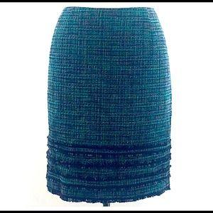 Tweed Knee Length Skirt