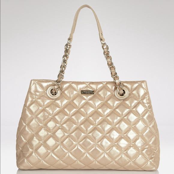 69% off kate spade Handbags - Kate Spade gold quilted Maryanne bag ... : quilted kate spade handbag - Adamdwight.com