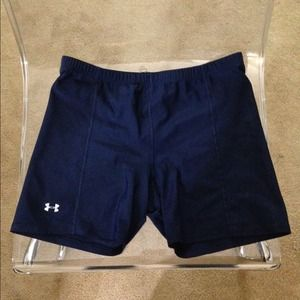 navy blue under armour spandex!