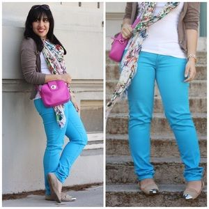 Celebrity Pink Pants - Celebrity Pink Turquoise Blue Pants