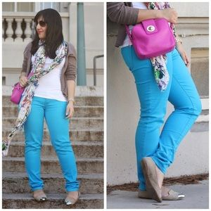 Celebrity Pink Bright Blue Pants