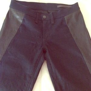 rag & bone midnight legging w leather detail