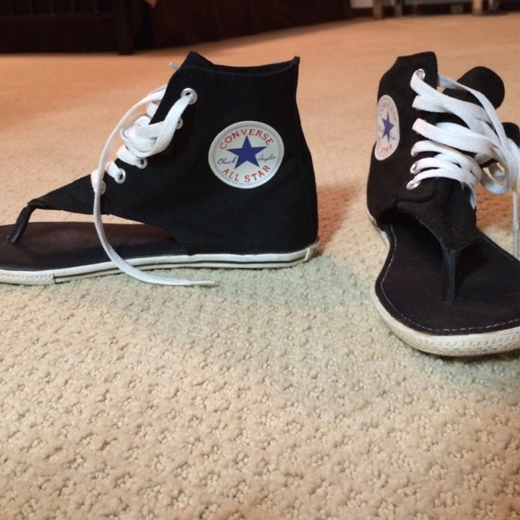 black converse sandals