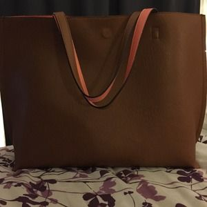 Irreversible Faux Leather Tote