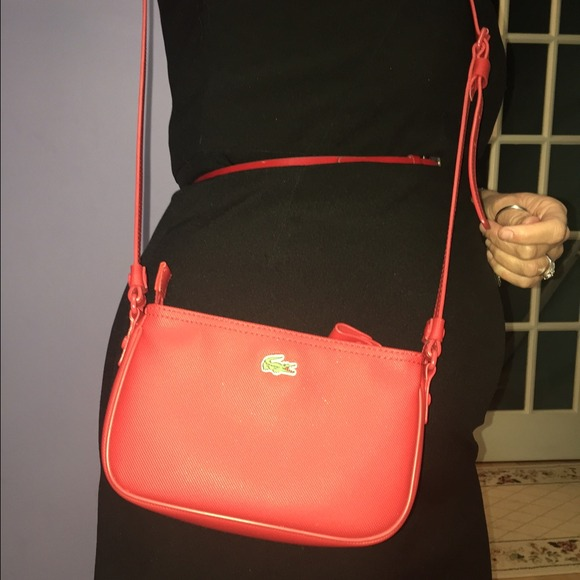 40% off Lacoste Handbags - Red Lacoste over the shoulder bag from ...