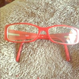 Ray-Ban Accessories - Authentic Ray ban red frames !!