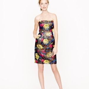 J Crew brocade cocktail dress new