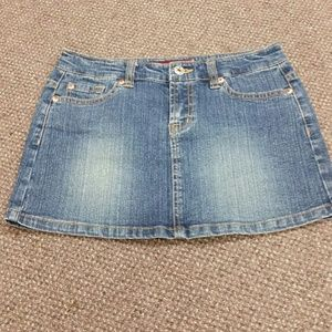 Small denim skirt