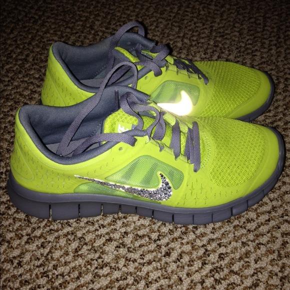 reputable site 8a2c8 78a72 SHIPS TODAY!! Nike free run 3 Neon Glitter Kicks