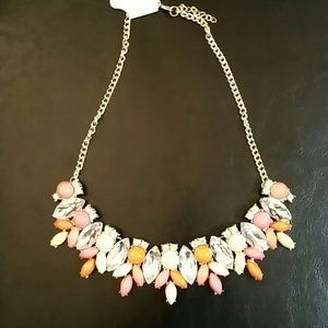 Peach, neon yellow, pink and orange necklace