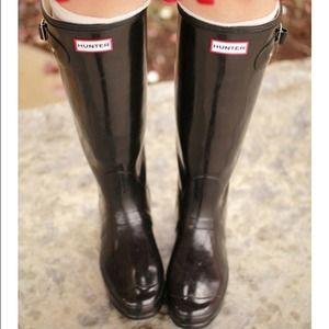 Hunter Boots Boots - Hunter boots original tall gloss size 8
