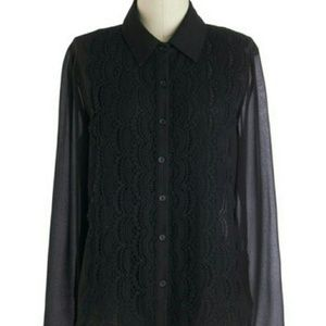 *SALE* NWT M Sheer Lace Top by Paper Moon