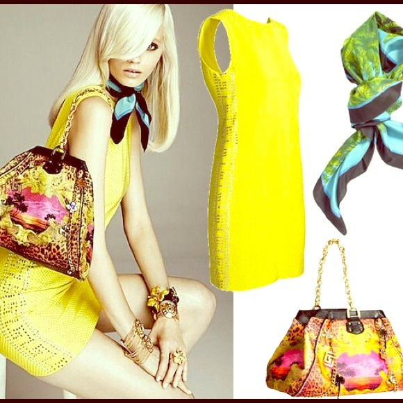 e75ded67 Versace for H&M yellow canary dress