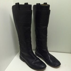 Tall Black Leather Frye Boots