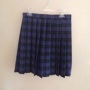 Dresses & Skirts - Blue plaid mini skirt