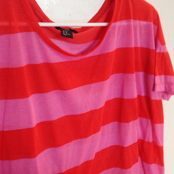 best authentic look good shoes sale new specials H&M Tops | Hm Red And Pink Striped Top Xs | Poshmark
