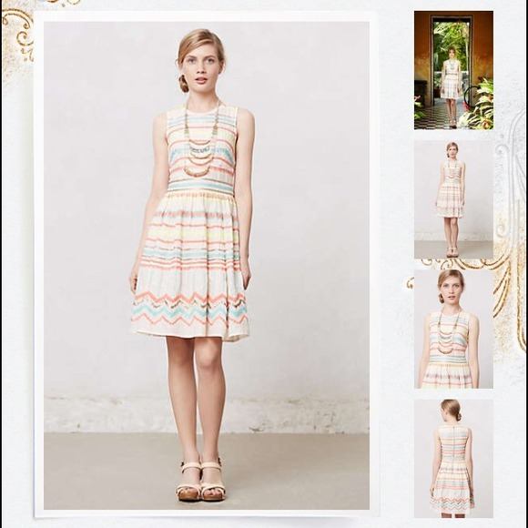 1594f750f1b3 Anthropologie Dresses | Tracy Reese For Anthro Sunglow Stripe Dress ...
