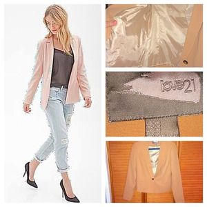 Forever 21 Jackets & Blazers - 🍑👘Peach Love21 Elegant Blazer👘🍑 size Medium