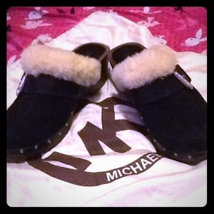 Authentic MICHAEL KORS boots with heel and fur