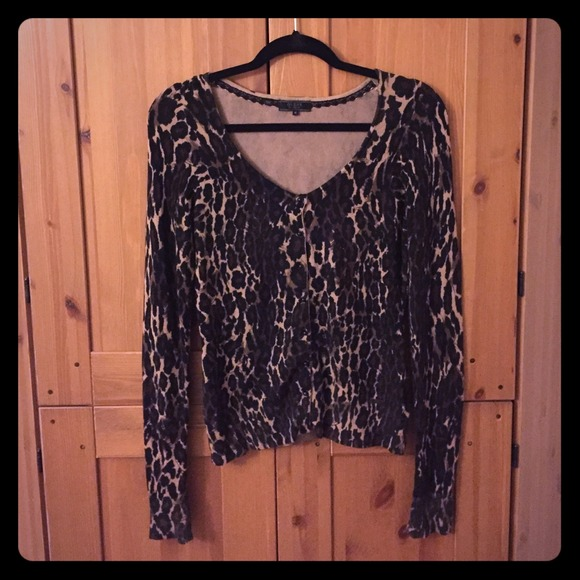 e0d7ce0180c7 Guess Sweaters | Leopard Print Cardigan Make An Offer | Poshmark