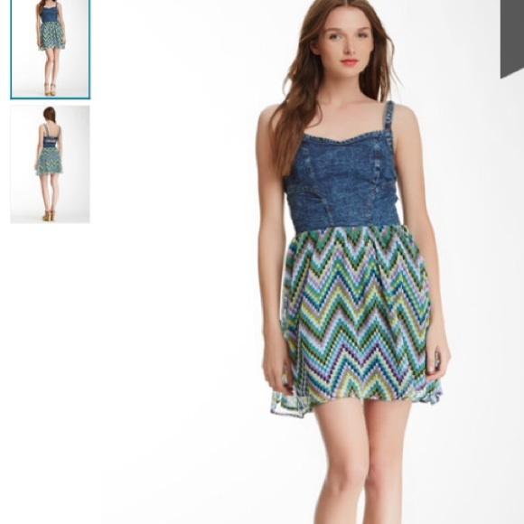 d2d1b368b5 NWT Angie denim bustier dress