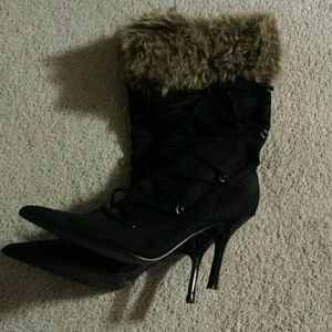 Brand New Fur on Top Pointed Boots