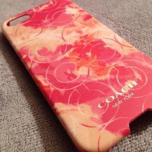 Coach Tie Dye Op Art iPhone 5 Case Pink Coral