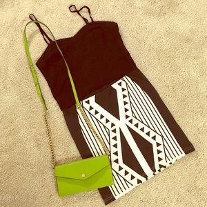 Minkpink Bodycon Tribal Geoshape Skirt