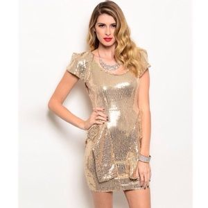 🍦25% Off Bundles! Stunning Gold Sequined Dress
