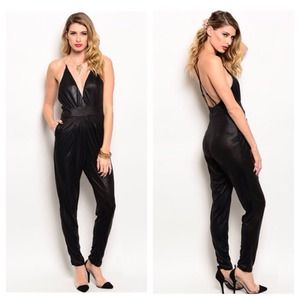 Super Sexy Black One-piece Romper