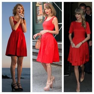 🍦25% Off Bundles! Red Classic Taylor Swift Dress