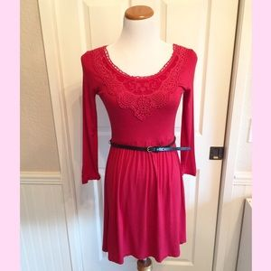 💘Take 15% Off! Little Red Dress w/ Belt