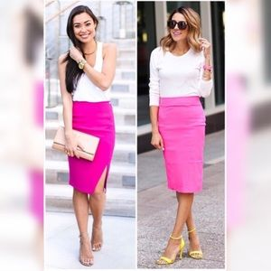 LAST ONE!  Bright Pink Trendy Pencil Skirt
