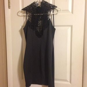 NWT Lace top and charcoal color dress 😍