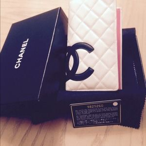 Chanel  White Quilted CC Cambon
