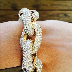 Jewelry - Pave link statement bracelet