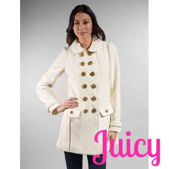 83% off Juicy Couture Jackets & Blazers - Juicy Couture Ivory Car ...
