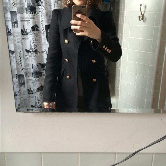55% off Zara Outerwear - Zara black military coat with gold