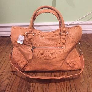 NWT $2045 BALENCIAGA BROGUES CITY DESIGNER BAG