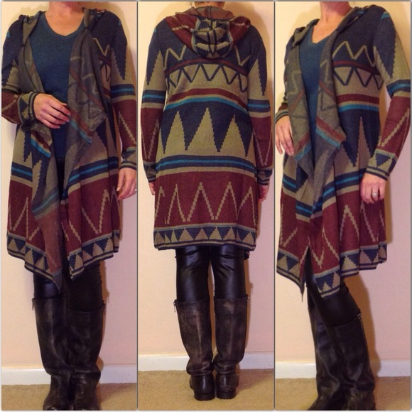46% off Sweaters - Aztec tribal long duster sweater cardigan from ...