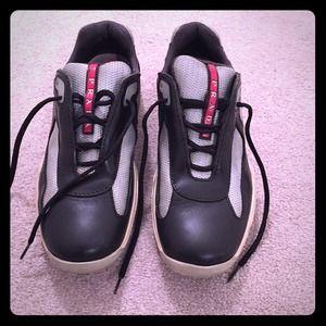 black prada nylon bag - 72% off Prada Shoes - ?SOLD? Authentic Prada 3163 Sneakers from ...