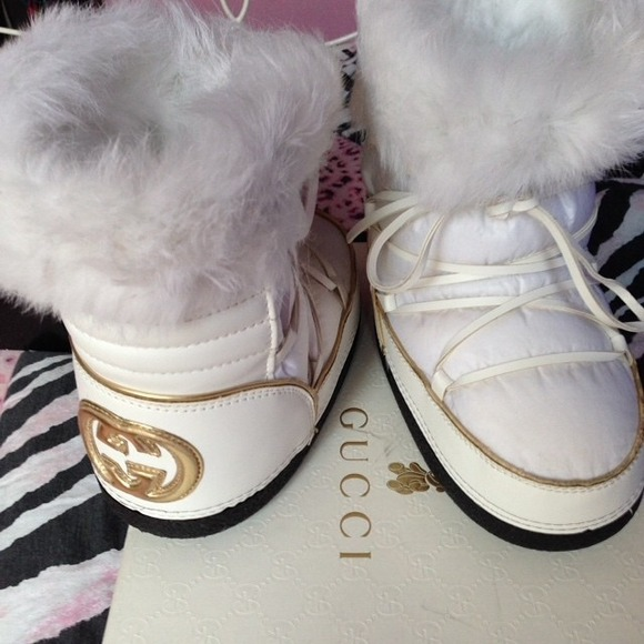 Sales promotion most fashionable 60% clearance Gucci snow boots kids