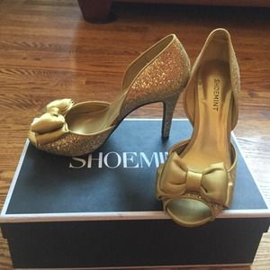 Shoemint Emerald heel in gold