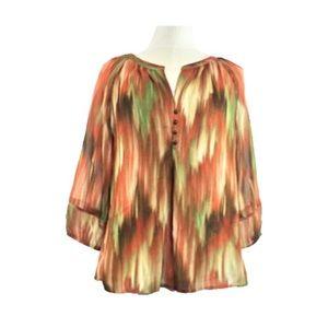 NWT 3/4 Raglan Sleeve Orange Blouse