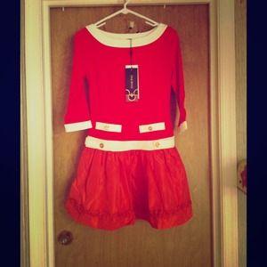 Women mini orange dress size S