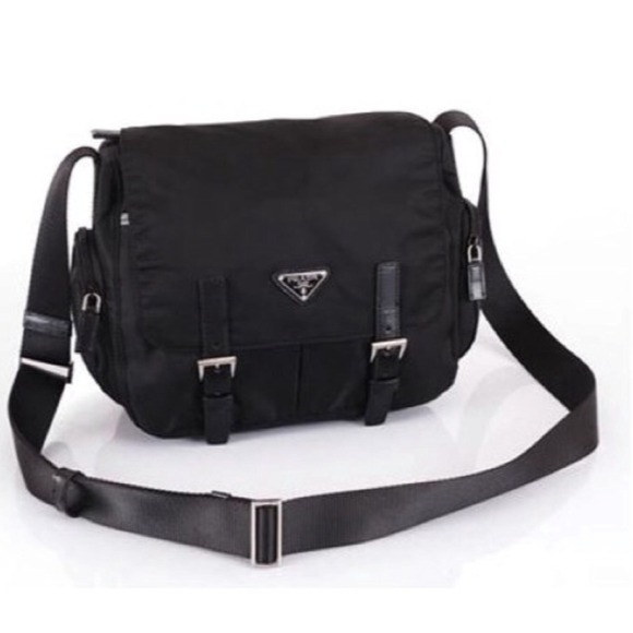 bf9ebea1853 AUTHENTIC Black Prada nylon messenger bag. M_5489e71b0f6eb20528010b92