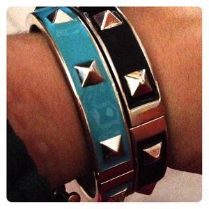 Jewelry - METAL & ENAMLE SPIKE BRACLET BANGLES!!