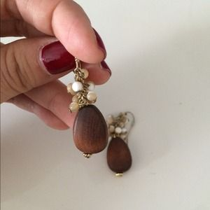 Tinley Road Jewelry - Tinley Road wood and bead earrings